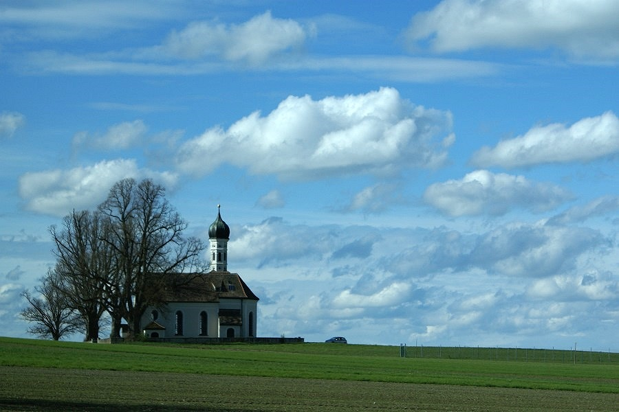 St Andrä, Kirche bei Etting, Bayern...