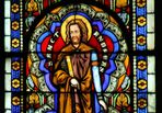 St. Andreas Glasfenster Naumburg Ausschnitt