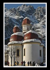 St. Bartholomä mit Watzmann-Ostwand