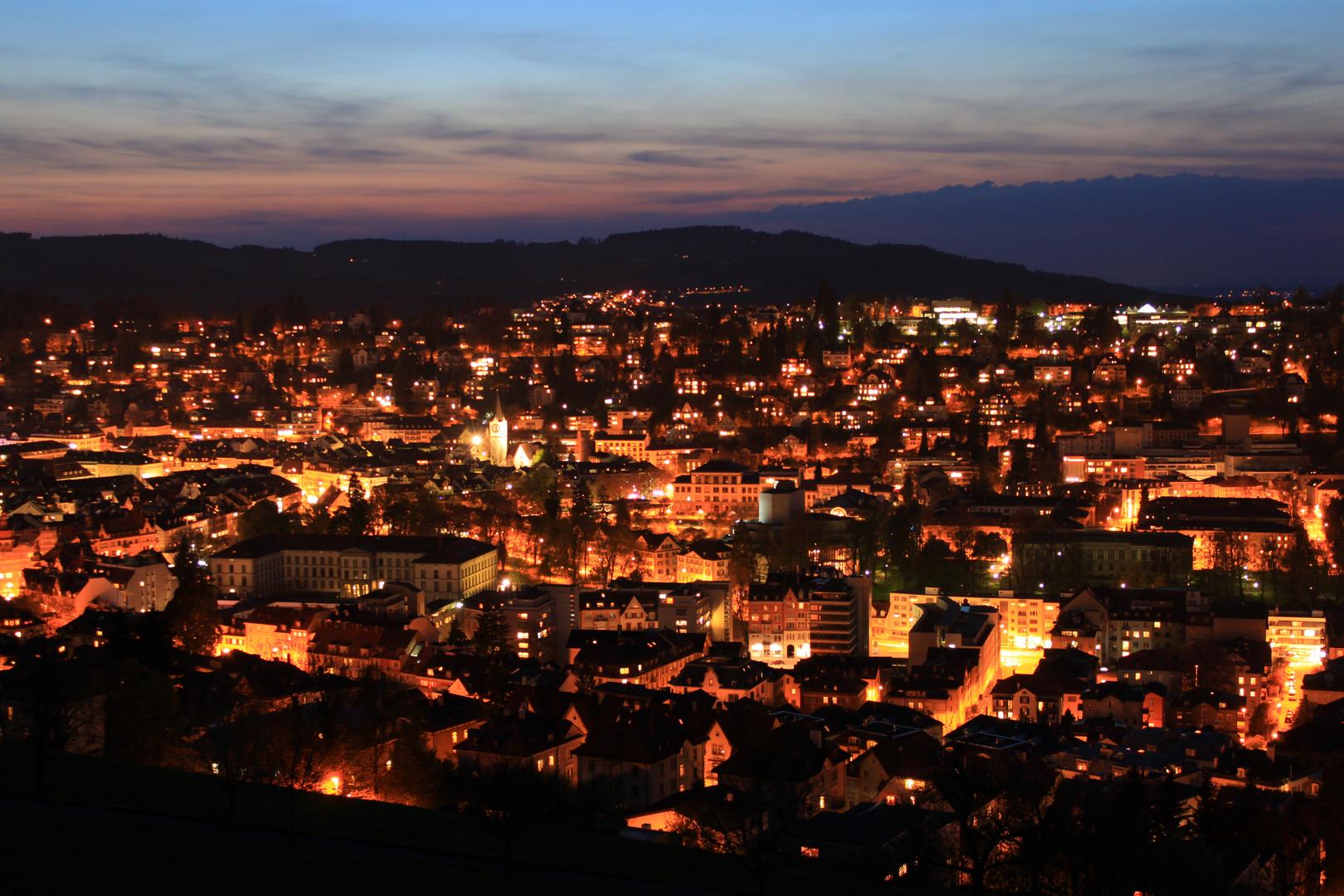 St. Gallen at night