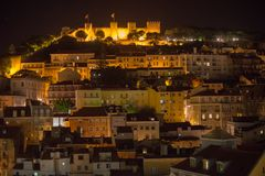 St. George Castle at night