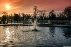 St. James' Park, London against the sun