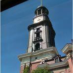 St. Michaelis Church through the bus window
