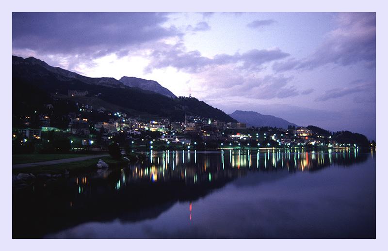St. Moritz am Abend