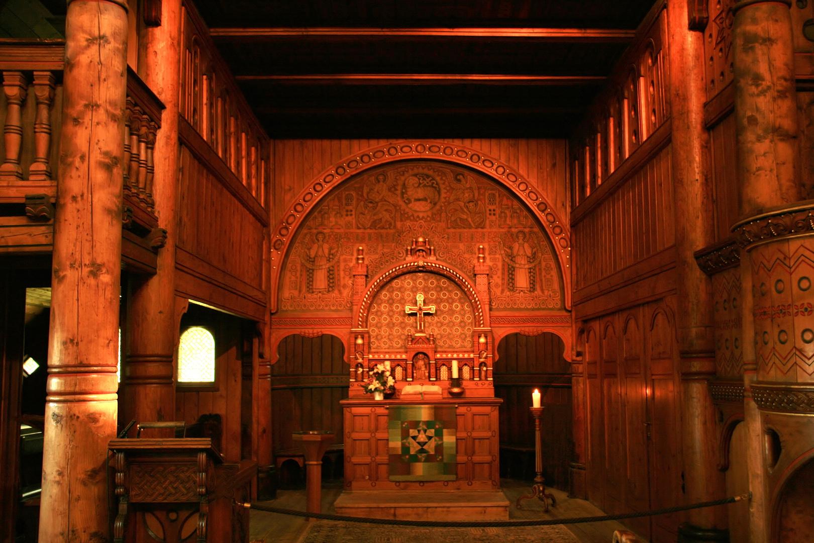 Stabkirche Hahnenklee Innenansicht II