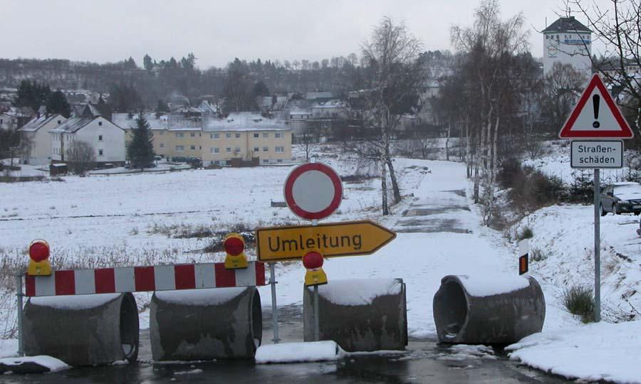 Stadt geschlossen, Umleitung nach............?