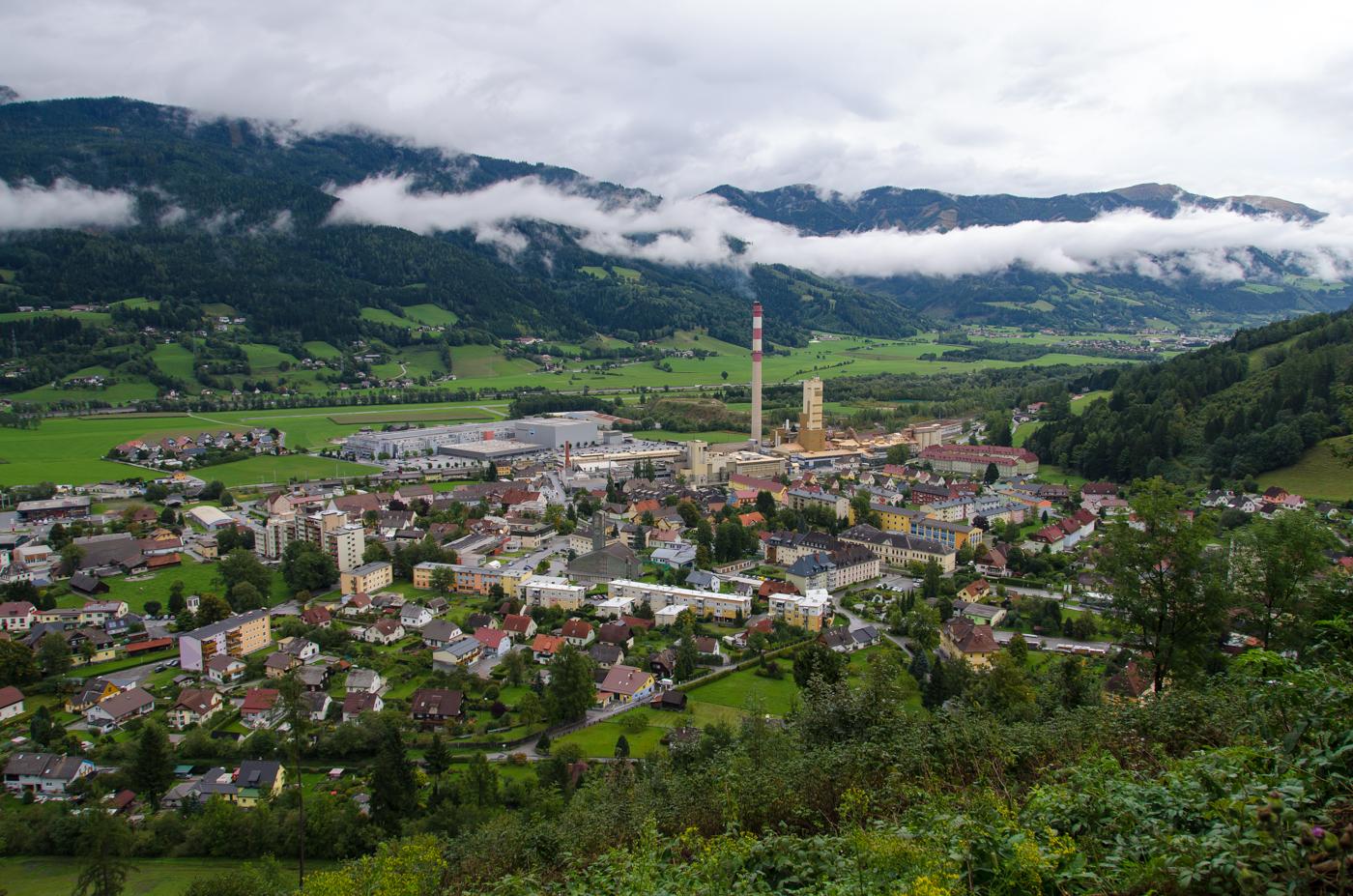 Stadt Trieben im Herbst