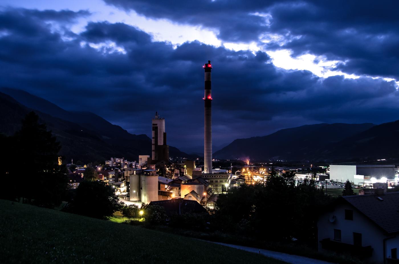 Stadt Trieben Nachtaufnahme