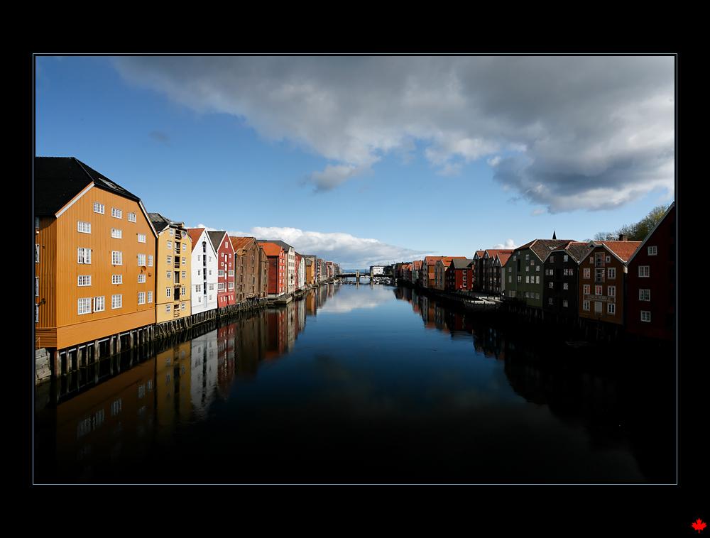 Stadtansicht von Trondheim