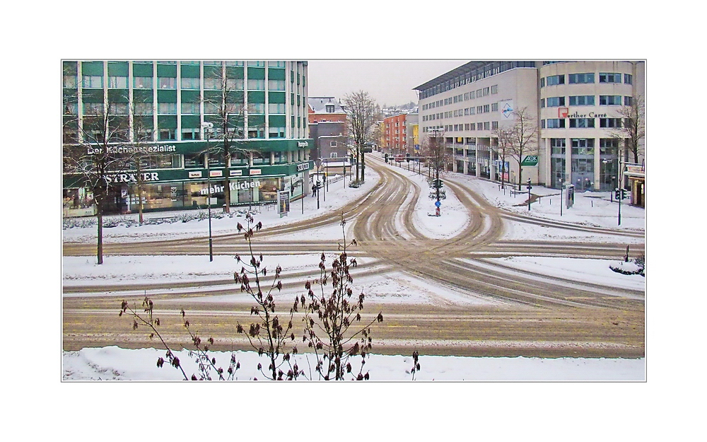 Stadtbild Wuppertal 66 ... Straßenkunst ... (diese Blick ist vergänglich)