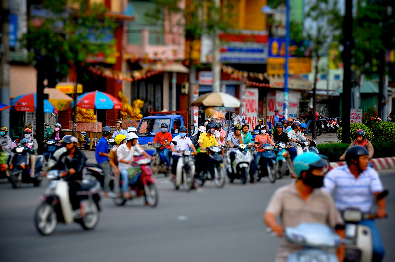 Stadtimpression Saigon - TiltShift Bearbeitung