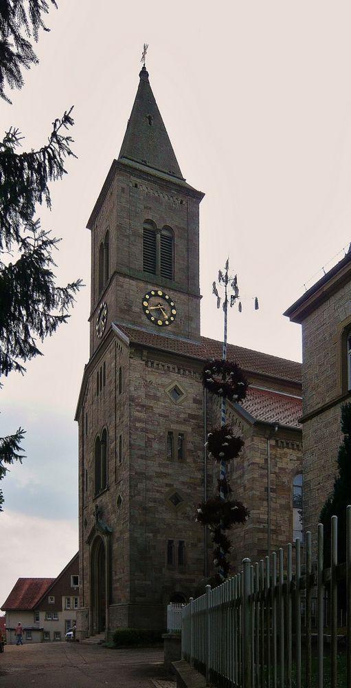 """Stadtkirche mit """"Palmen"""""""