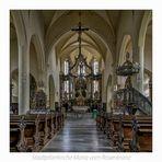 """Stadtpfarrkirche Maria vom Rosenkranz ( Gerolzhofen ) """" Gott zu Gefallen... """""""
