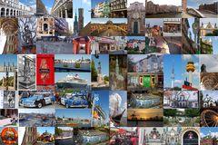Stadtrundfahrt oder schönes Hamburg als Collage