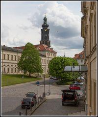 Stadtschloß Weimar, Westseite mit Turm