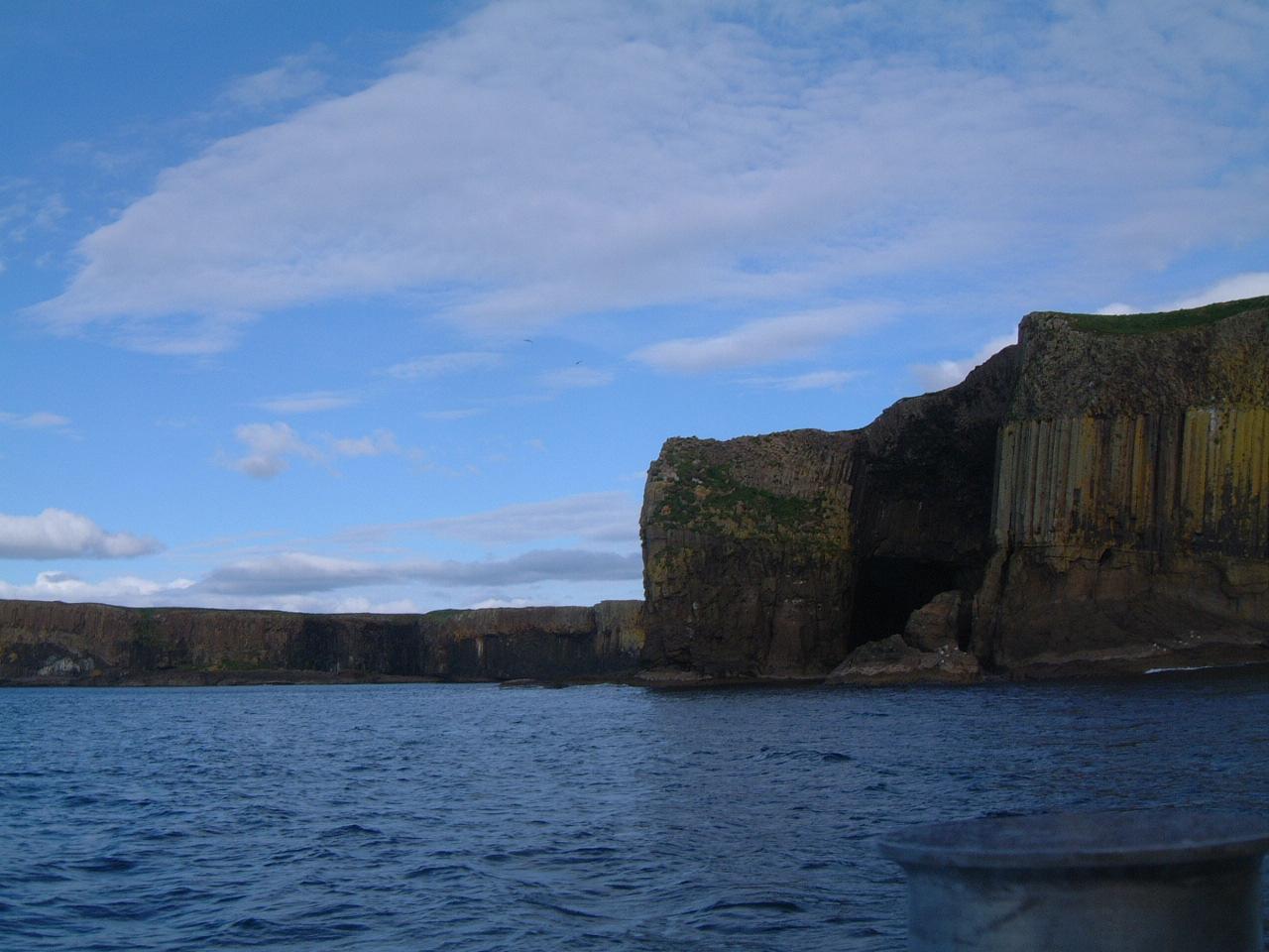 Staffa from the Sea