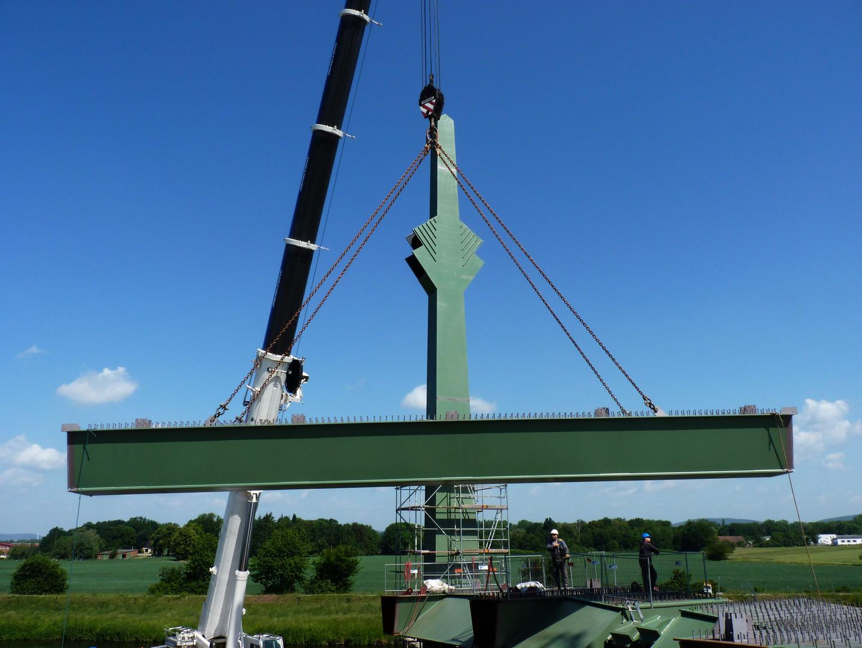 Stahl für die Werrebrücke