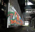 Stahl und Graffiti