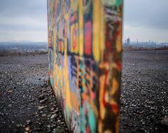 Stahl unter Graffiti