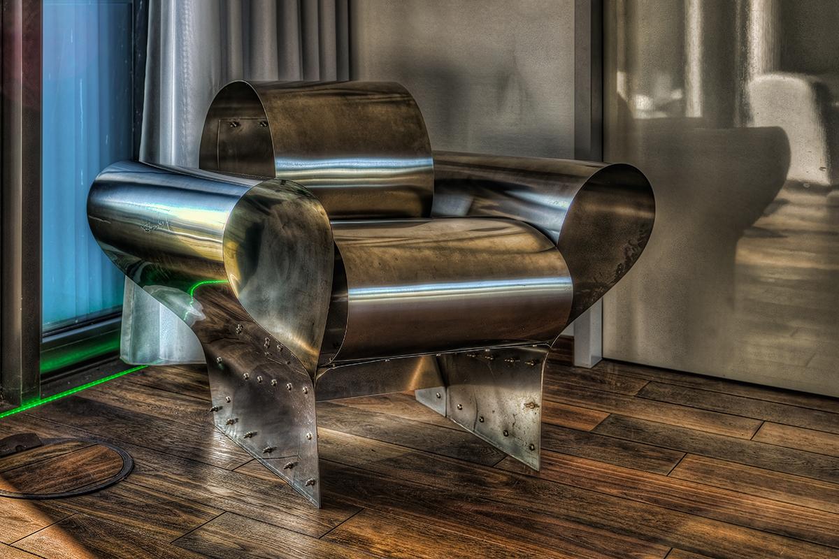Stahlblech-Sessel
