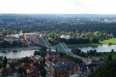 """Stahlbrücke in Dresden-Loschwitz (das """"Blaue Wunder"""")"""