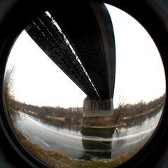 Stahlkonstruktion Rheinbrücke