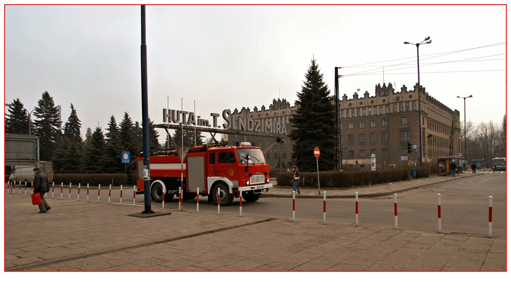 Stahlwerk in Nowa Huta bei Krakau