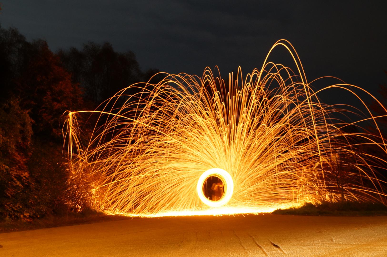 Stahlwollen Kreisel