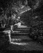 Stairway to the old fortress of Angelokastro, Corfu / Greece
