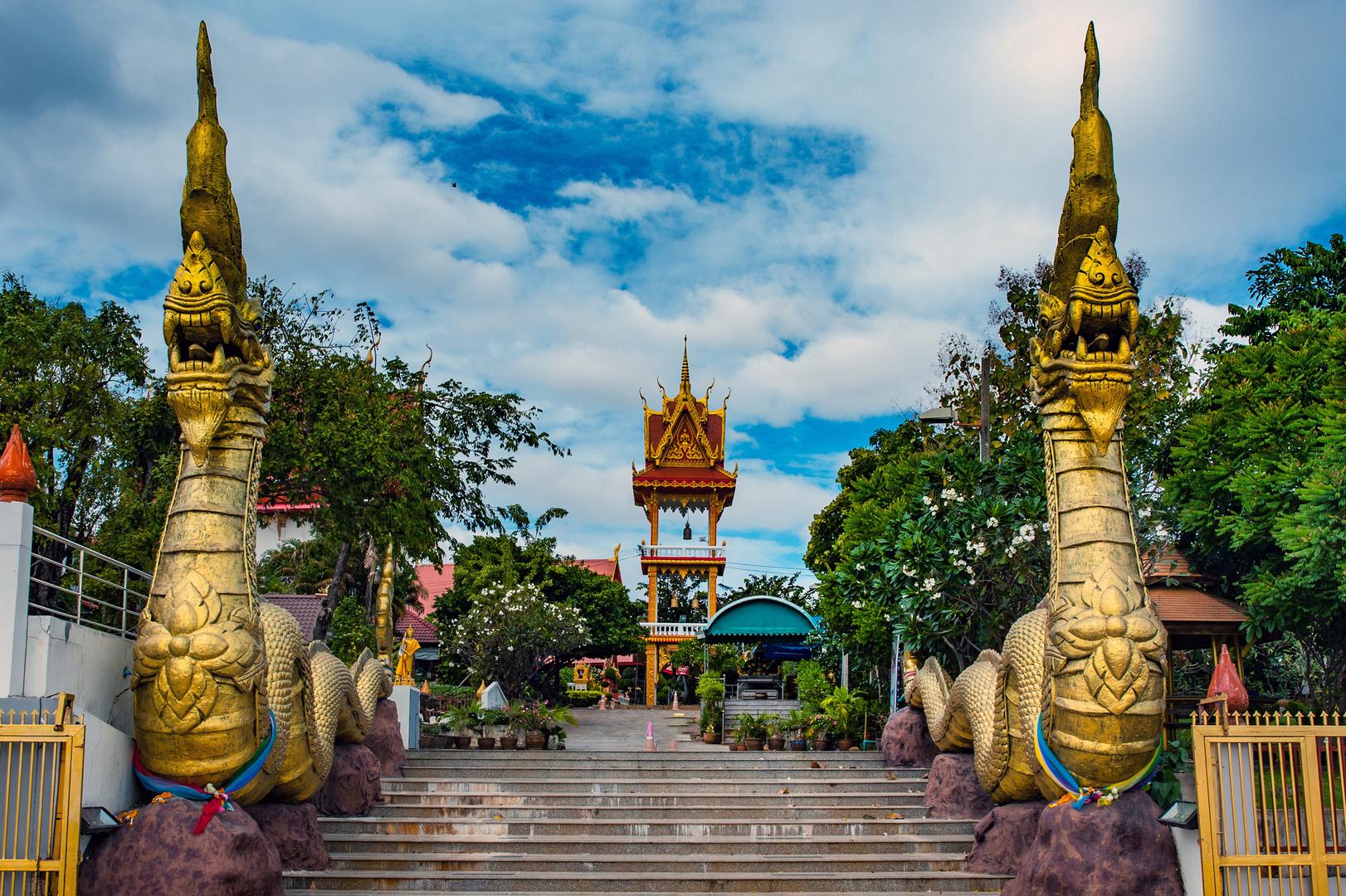 Stairways to the Wat Luang