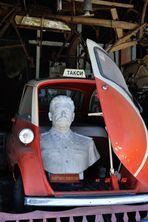 Stalin im bescheidenen Taxi