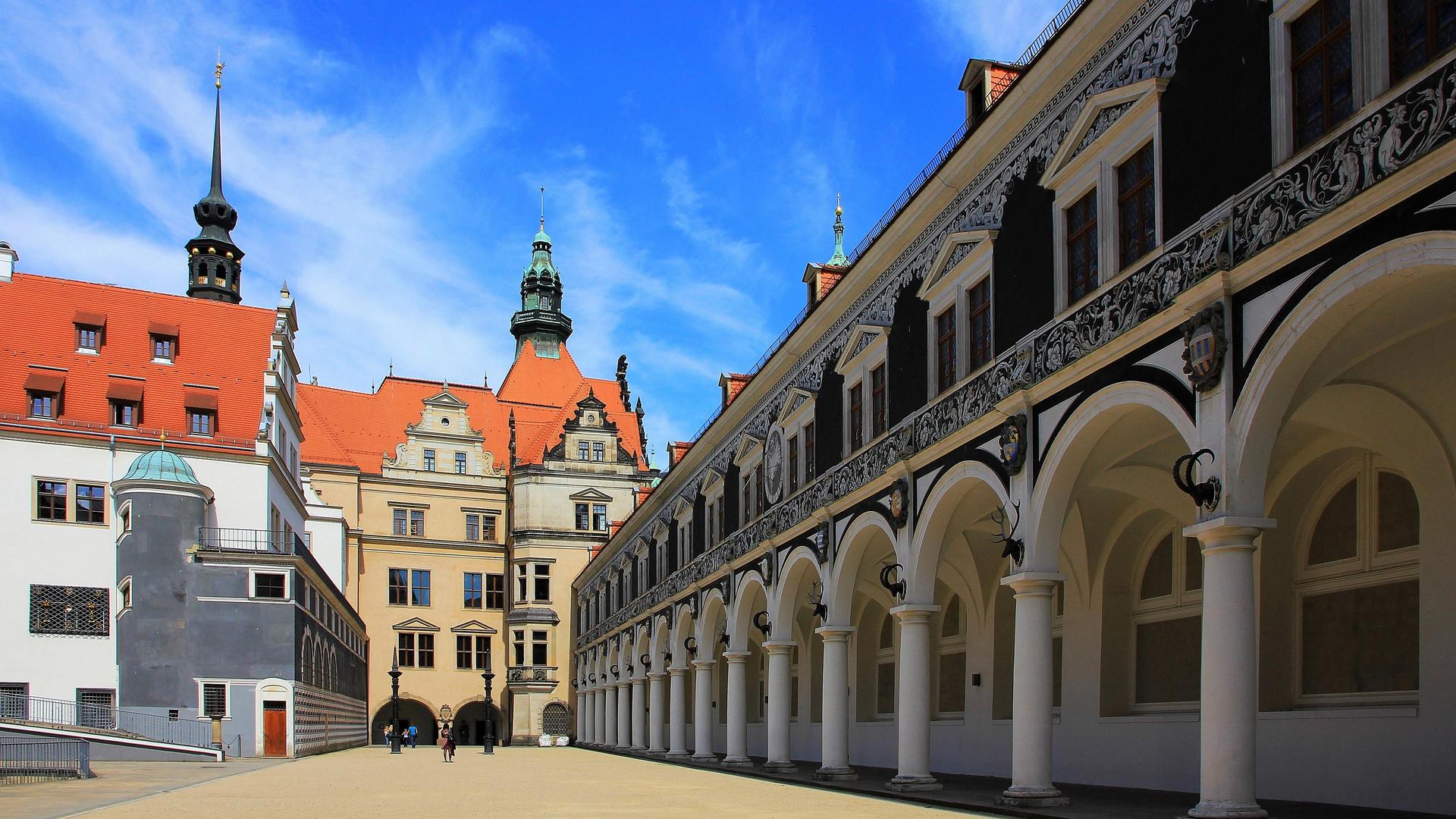 Stallhof und Residenzschloss Dresden
