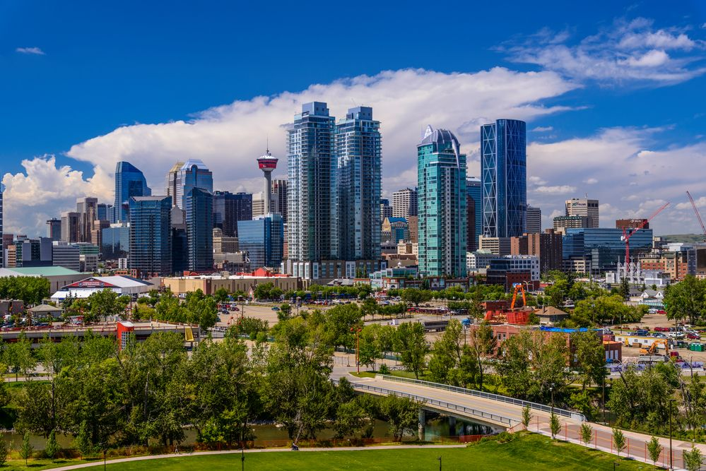 Stampede Park & Skyline, Calgary, Alberta, CA