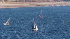 Stand-up Sailing auf dem Möhnestausee - funktioniert auch bei wenig Wasser!