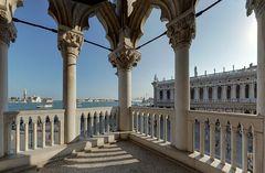Standardmotiv 5: Blick vom Dogenpalast nach San Giorgio