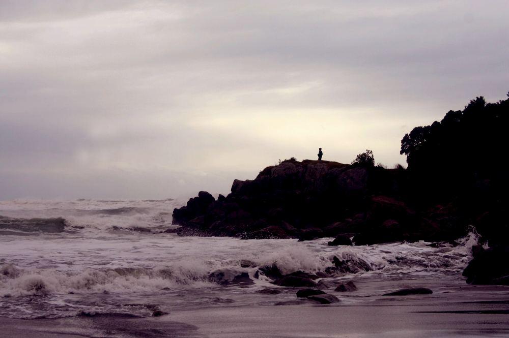 standing near violent seas