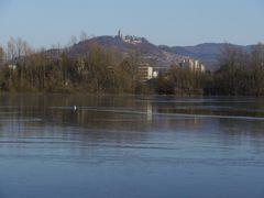 Starkenburg über Bruchsee, Heppenheim