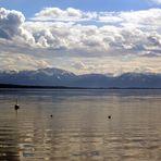 Starnberger See an einem Sonntagnachmittag