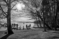 Starnberger See im Gegenlicht