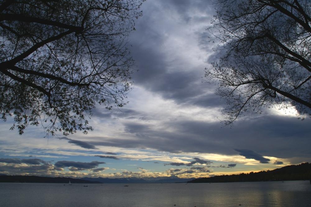Starnberger See mit Zugspize