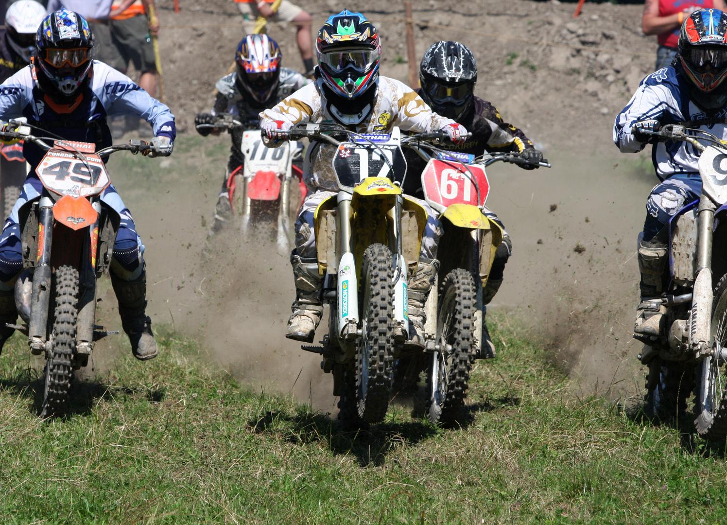 Start am Motocross Montikel / Feldkirch