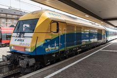Startbereite ALEX Diesellok im Münchner Hauptbahnhof