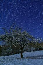 Startrails im Schnee