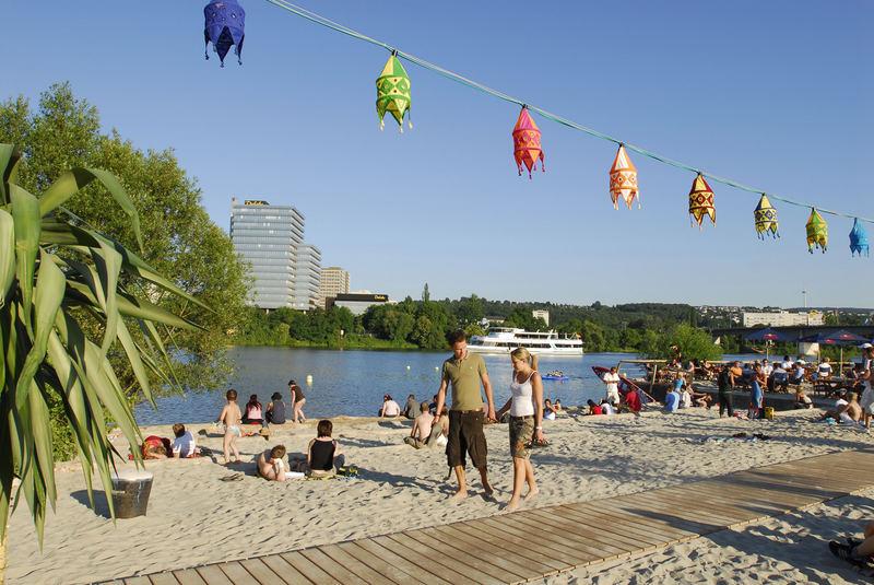Statt Strand in Koblenz-Metternich Foto & Bild