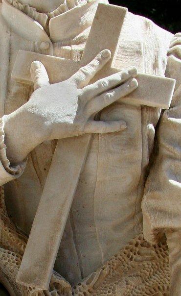 statua funebre, particolare