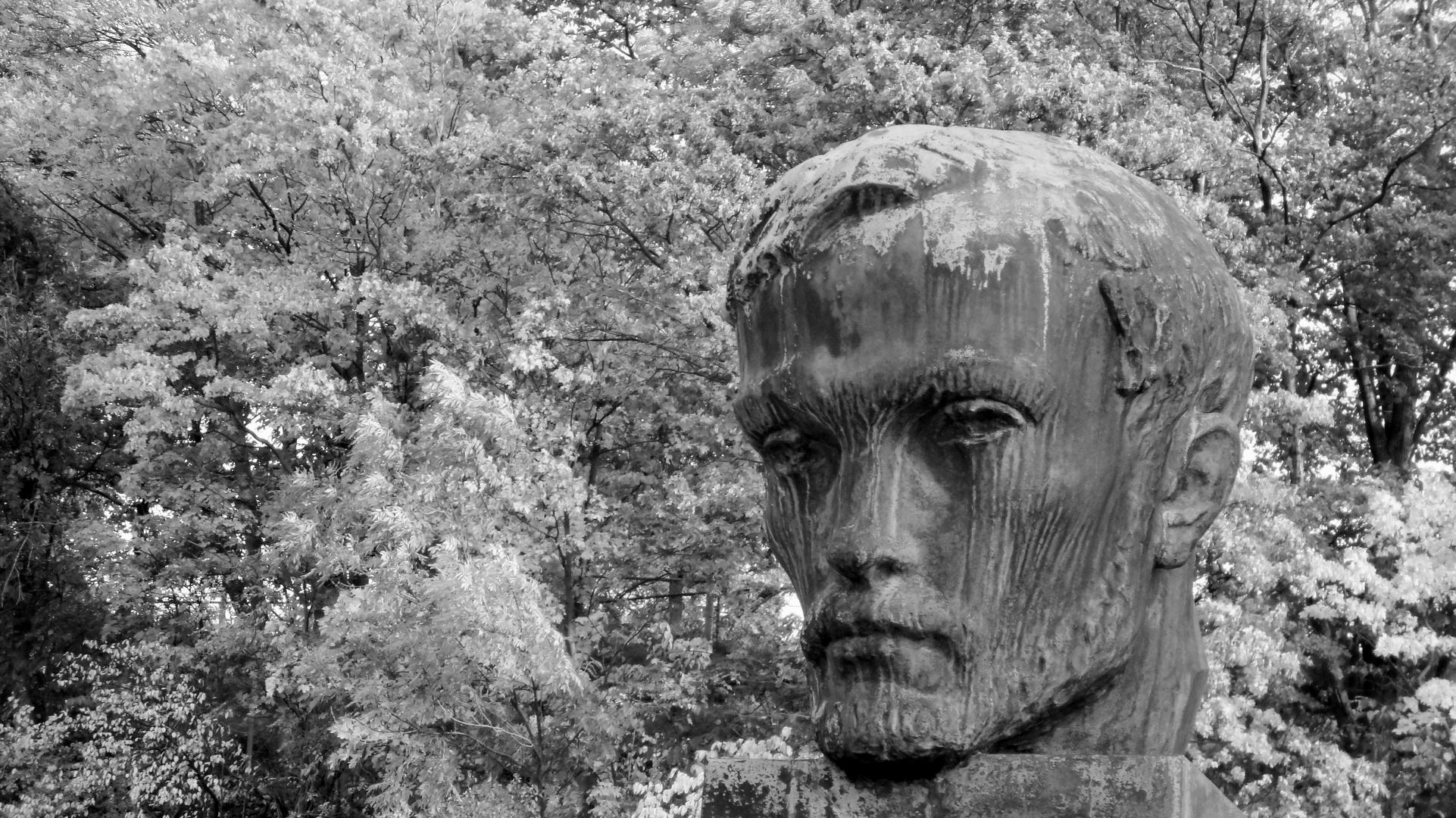 Statue face in Turku, Finland