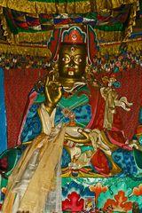 Statue in einer Comba (Kloster)