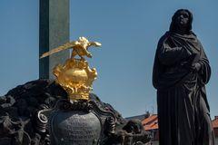 Statue, ponte Carlo di Praga