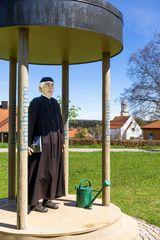 Statue von Sebastian Kneipp in Bad Grönenbach.