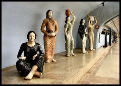 Statues in Underground.